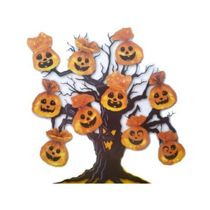 Halloween Pumpkin Tree Decorations Plastic Bags – 10 Pack