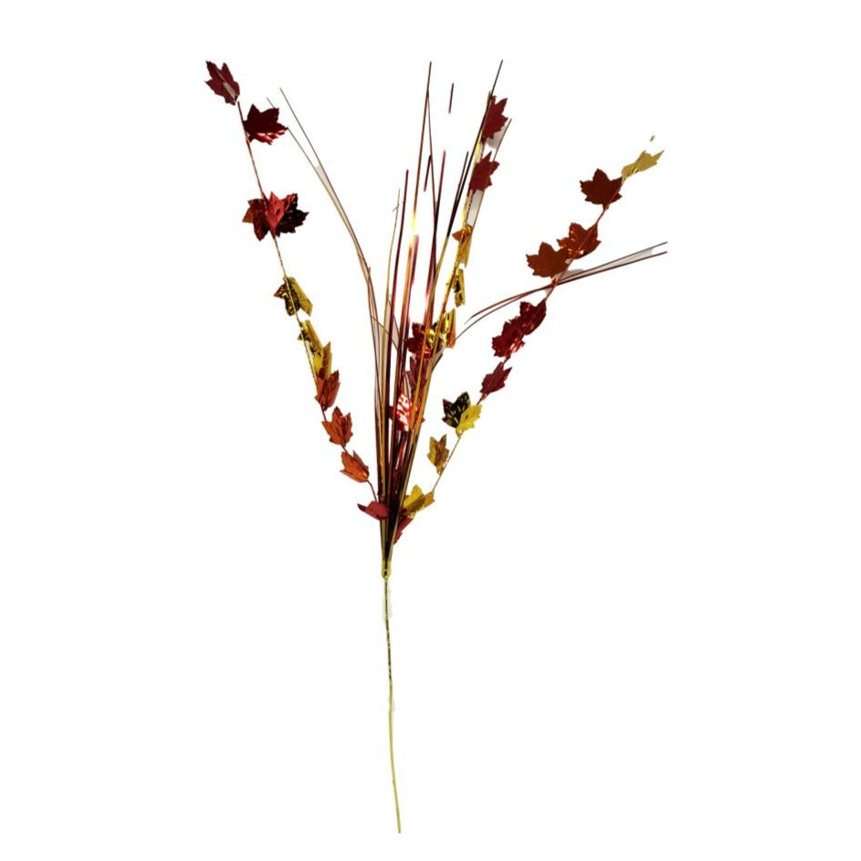 "Harvest Time 19"" Decorative Fall Leaves Spray – 4 Pieces"