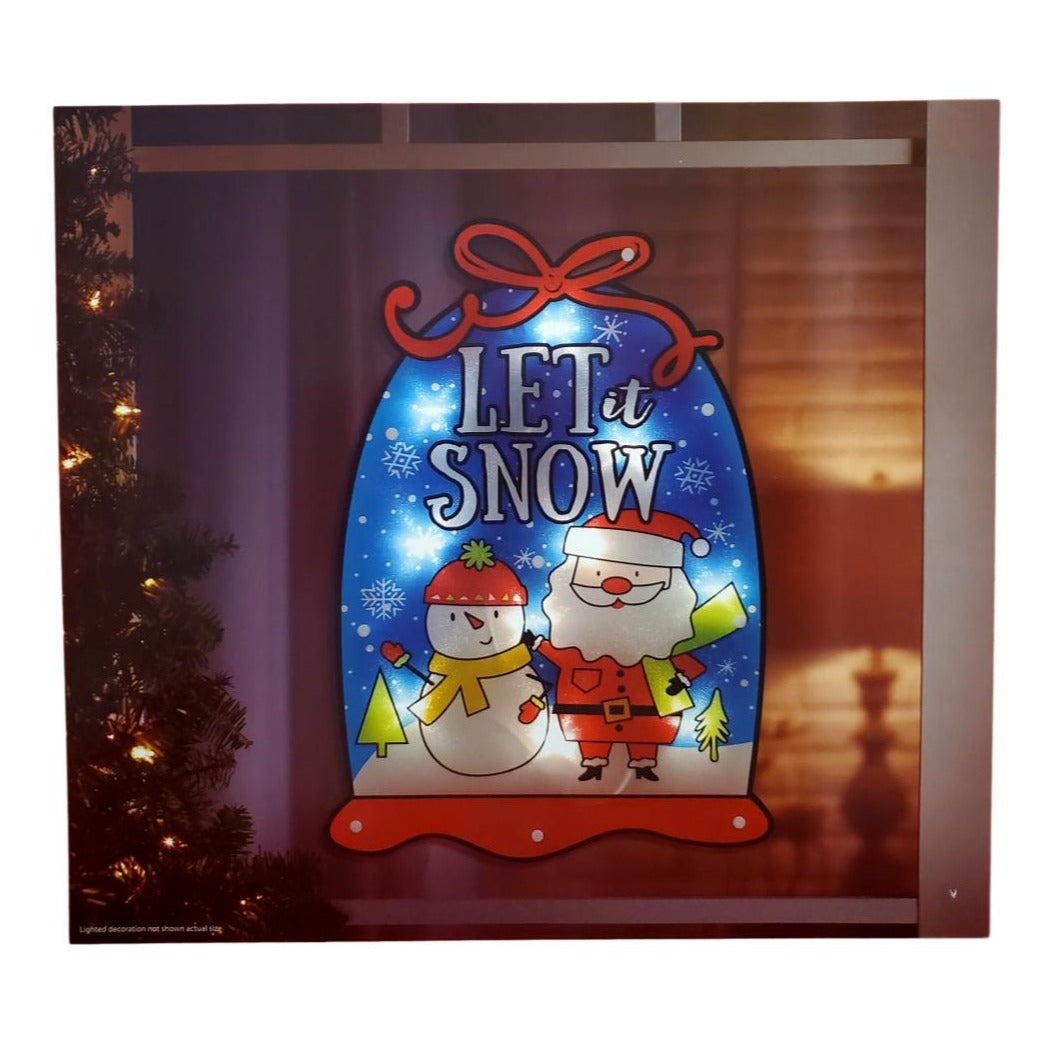 Christmas Lighted Snowglobe Instant Décor Window Decoration – 1 Piece