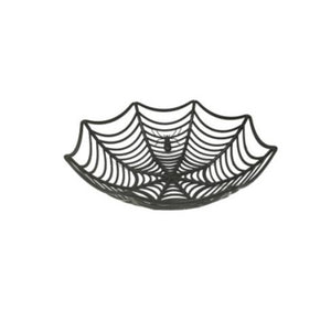 Halloween Spider Web Plastic Candy Basket 3 Assorted Colors