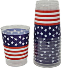 Load image into Gallery viewer, Patriotic Plastic  10 oz Tumblers