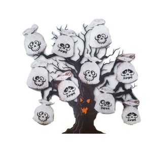 Halloween Ghost Tree Decorations Plastic Bags – 10 Pack