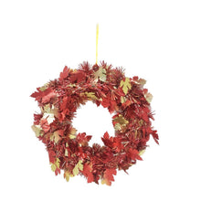 Load image into Gallery viewer, Harvest Time Wreath Tinsel Decoration - 2 Pieces