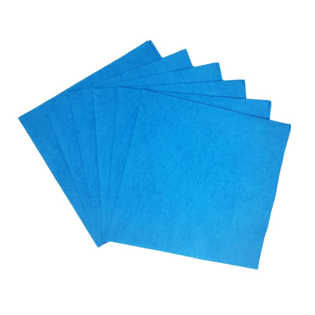 Turquoise Plain Solid Color Paper Disposable Cocktail Beverage Napkins
