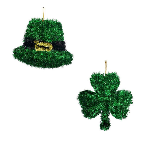 St Patrick's Tinsel Hanging Decorations 2-Piece Set