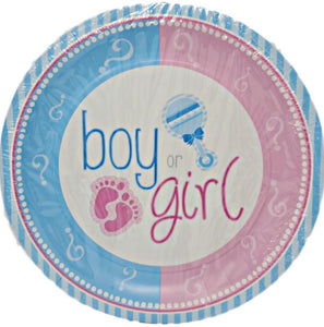 Gender Reveal 9-inch Paper Plates - 8 ct