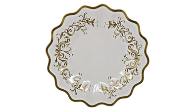 Gold Scroll 8.25 in Paper Plates –  8 CT