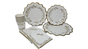Gold Scroll Beverage Cocktail Napkins – 16 PC