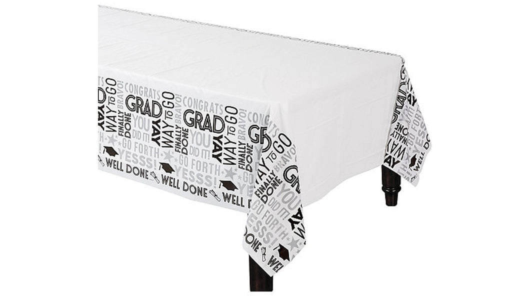 Grid Graduation Table Cover – 54 in x 102 in – 1 Piece