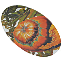 Load image into Gallery viewer, Autumn Squash Oval Glass Serving Plate 5.75x9.75in - Set of 2