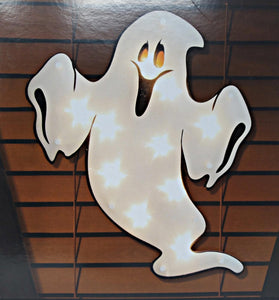Halloween Ghost Lighted Window Decoration - 1 Piece