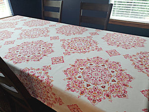 Echo Design Parvani Cotton Blend Tablecloth 52 by 70 Inch Oblong