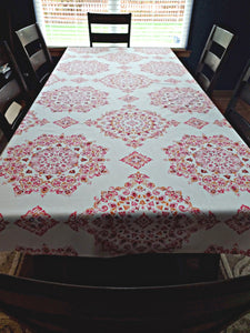 Echo Design Parvani Cotton Blend Tablecloth 60 by 102 Inch Oblong