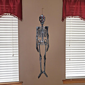 Gray Finish with Red Lines Skeleton Decor 46 inches – 1 Piece