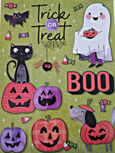 "Load image into Gallery viewer, Halloween Classic Window Clings 12"" x 17"" – 4 Piece"