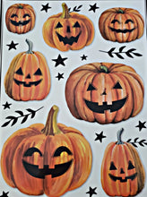 "Load image into Gallery viewer, Halloween Window Clings 12"" x 17"" – 4 Piece"