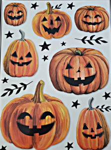 "Halloween Window Clings 12"" x 17"" – 4 Piece"