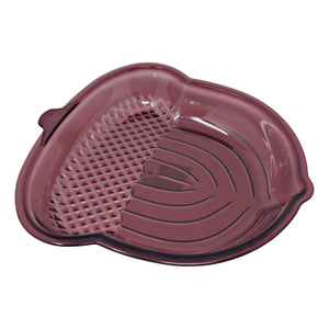 Acorn Shaped Fall Plastic Serving Dish Burgundy and Orange – Set of 2