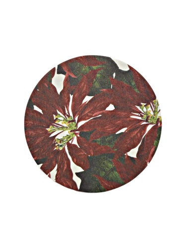 Poinsettia Paper Coasters Boxed Set of 12