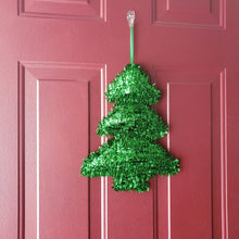 "Load image into Gallery viewer, Christmas Tree Holiday Party Tinsel 14"" x 11"" Decoration - 1 Piece"