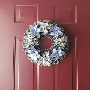 "Christmas Poinsettia 15"" Wreath - 1 Piece"