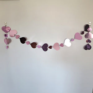 Valentine's Day Hanging Heart Garland 5 FT Pink and Red