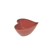 Load image into Gallery viewer, Red Cherry Heart-Shaped Terracotta Bowl 7.5 X 7 X 3