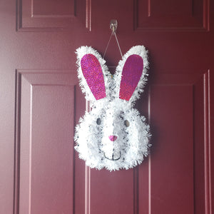 Easter Bunny Tinsel Decoration – 2 Pieces