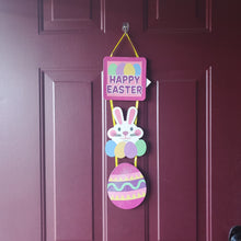 "Load image into Gallery viewer, ""Happy Easter"" Glitter Plaque Easter Decoration"