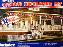 Load image into Gallery viewer, Patriotic Ultimate Outdoor Decorating Kit