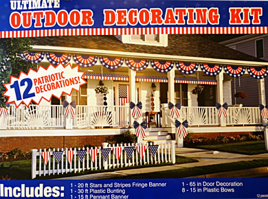 Patriotic Ultimate Outdoor Decorating Kit