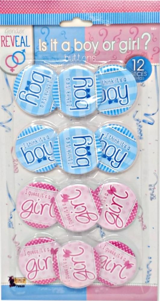 Gender reveal Is it a boy or girl? buttons