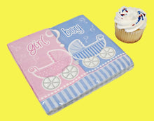 Load image into Gallery viewer, Gender Reveal Luncheon Napkins - 16 ct