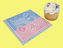 Load image into Gallery viewer, Gender Reveal Paper Beverage Napkins - 16 ct
