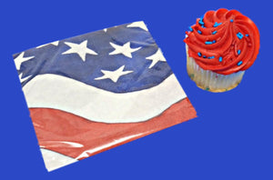 Patriotic Freedom's Flag Paper Beverage Napkins - 16 ct