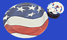 Load image into Gallery viewer, Patriotic Freedom's Flag 7-inch Dessert Plates - 8 ct