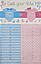 Load image into Gallery viewer, Gender reveal Is it a boy or girl? tally sheet