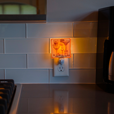 Cocktails Night Light
