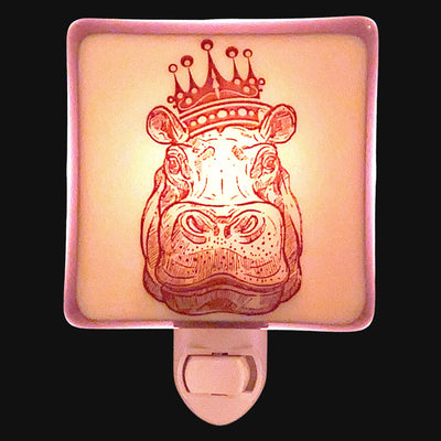 Hippo Queen  Night Light