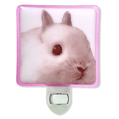 Cute White Bunny Face Night Light
