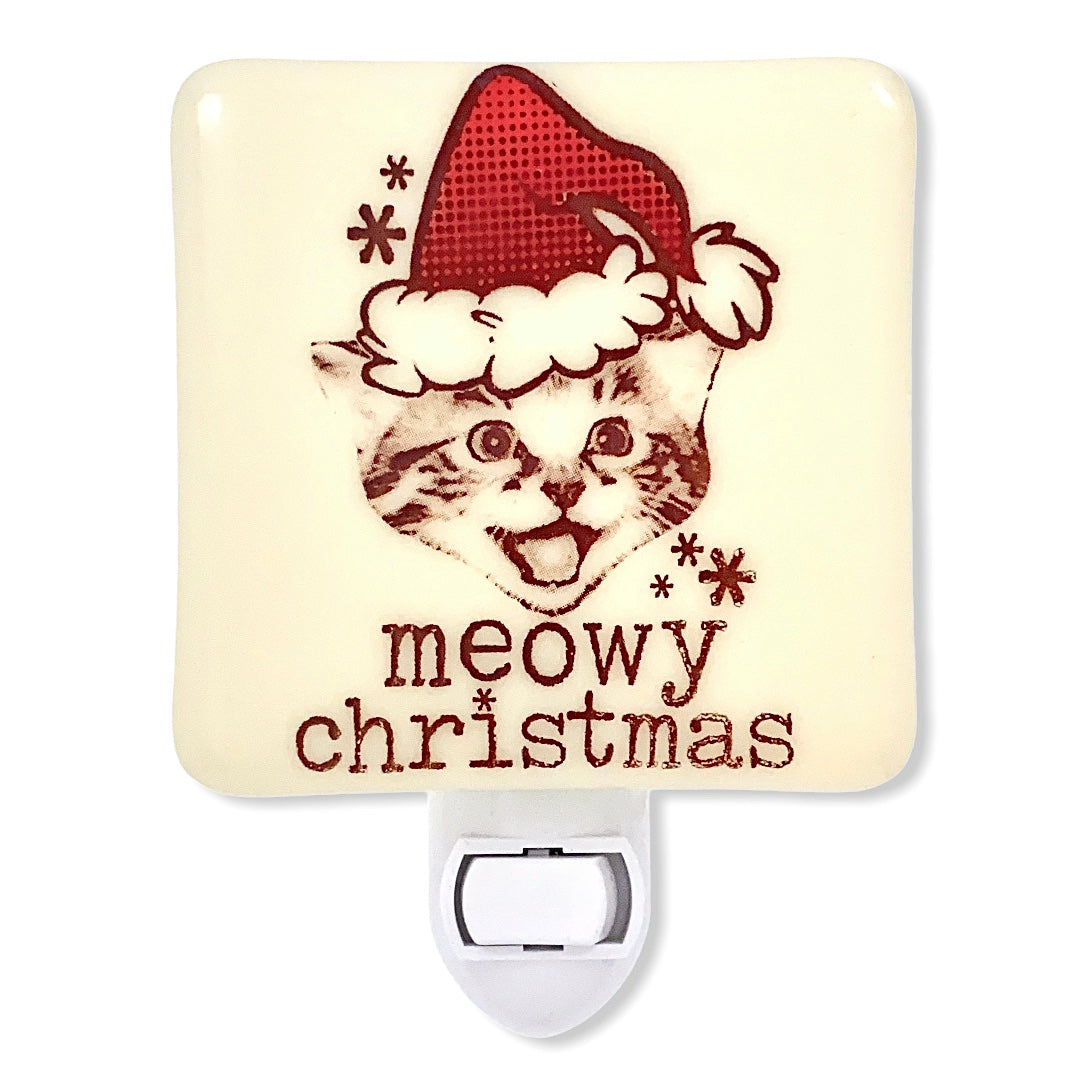 Meowy Christmas Kitty Christmas Night Light