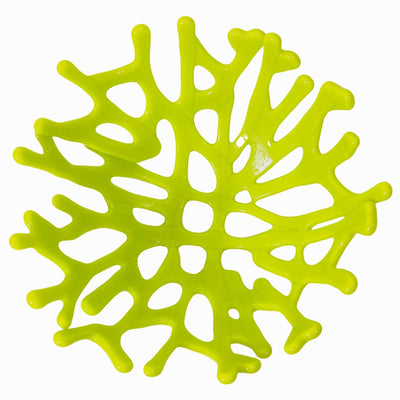 Coral Branch Bowl | Small Lemongrass Green Opaque Glass