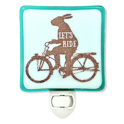 "Rabbit On Bicycle ""Let's Ride"" Night Light"