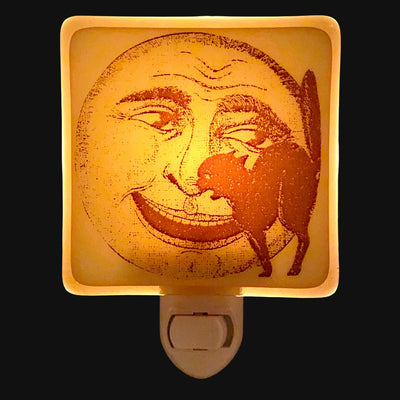 Halloween Vintage Moon and Cat Night Light