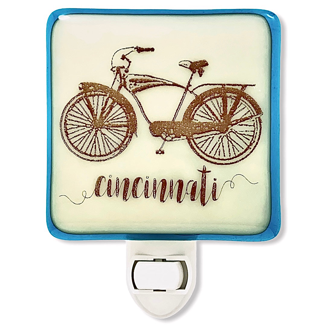 Personalized Bicycle Night Light with Name or City