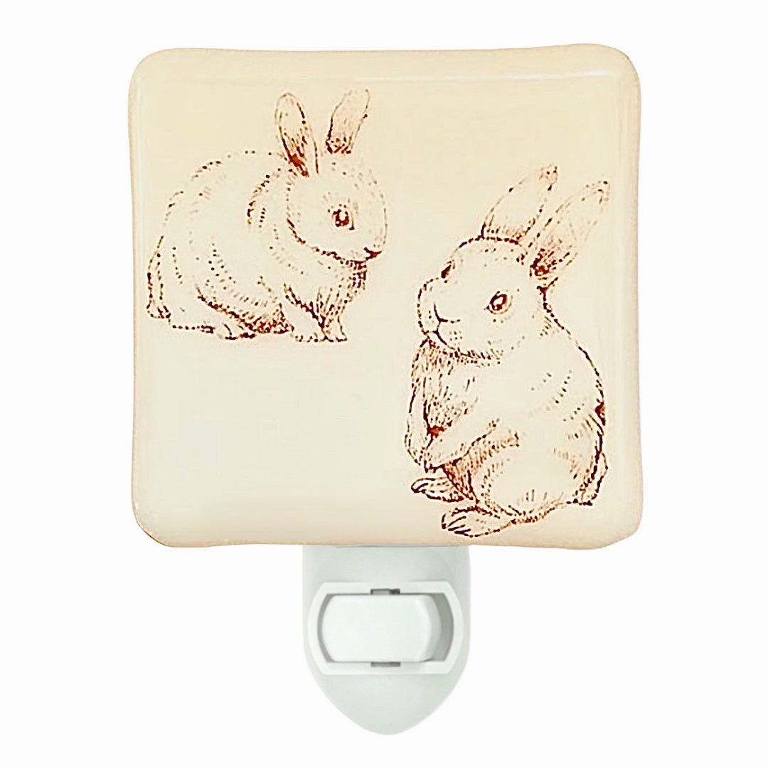 Two Bunnies Sketch Night Light