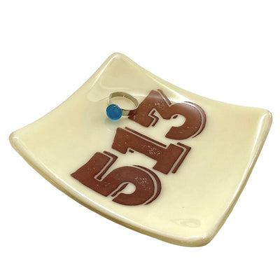 PERSONALIZED Area Code Glass Dish