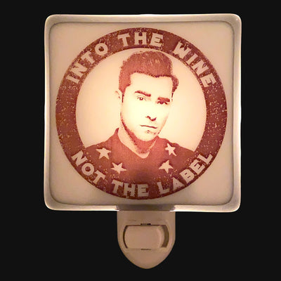 "Schitt's Creek - David Rose  ""Into the Wine Not the Label"" Night Light"