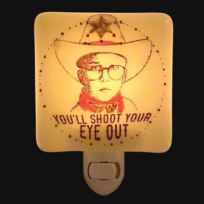 "A Christmas Story - Ralphie ""You'll Shoot Your Eye Out"" Night Light - Hand Painted"