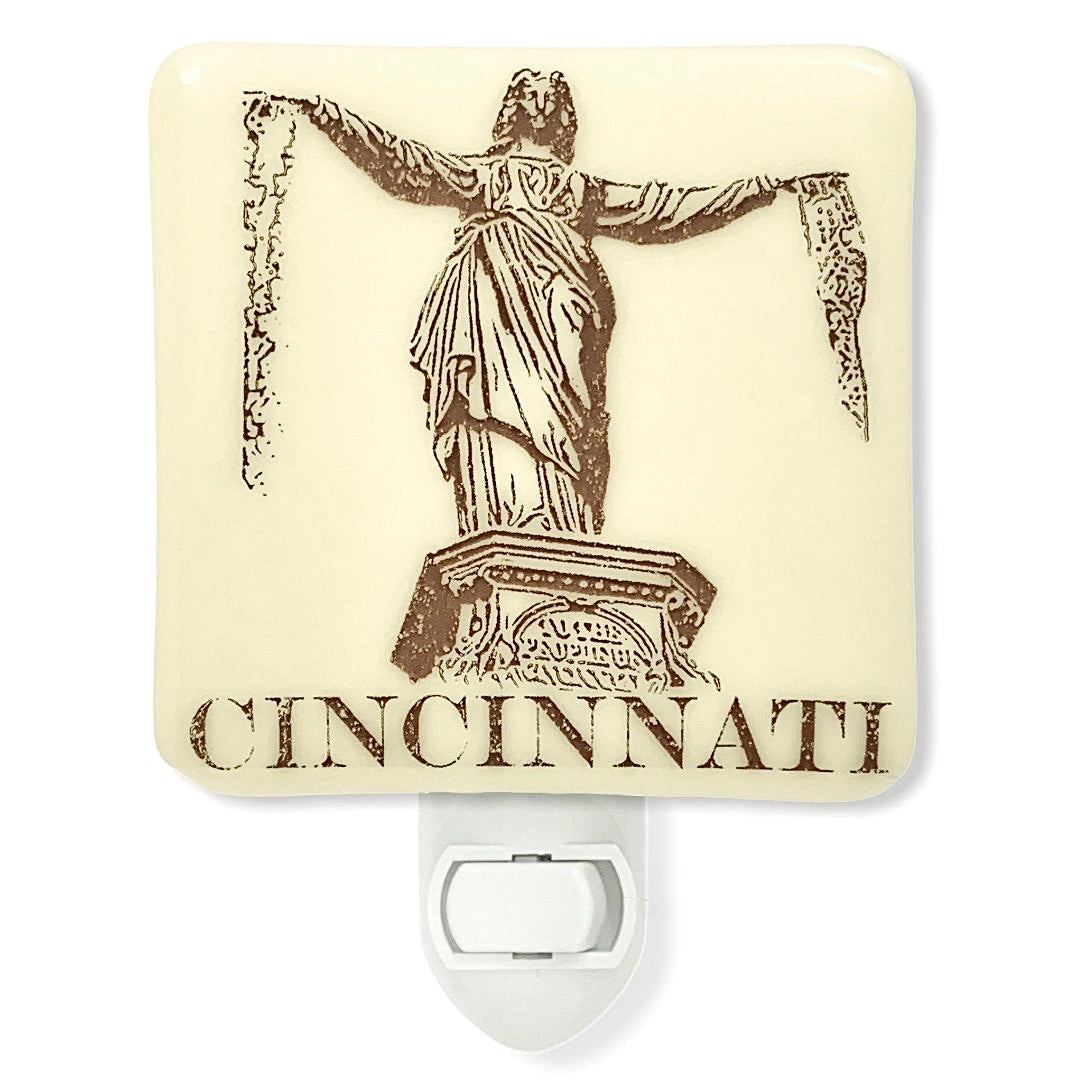 Cincinnati Ohio - Fountain Square Night Light